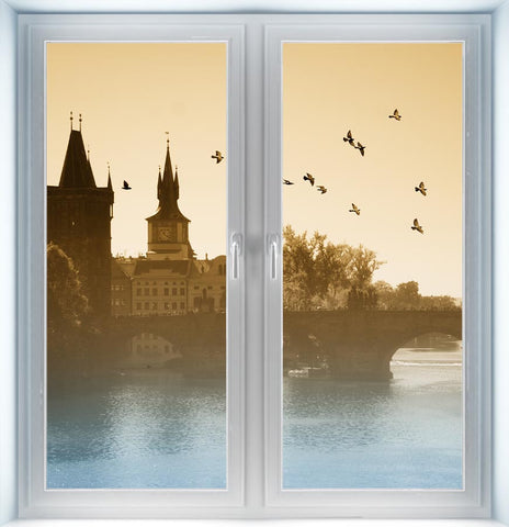 Birds Over Charles Bridge Instant Window