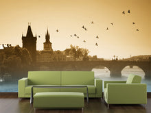 Load image into Gallery viewer, Birds over Charles Bridge in Prague Wall Mural