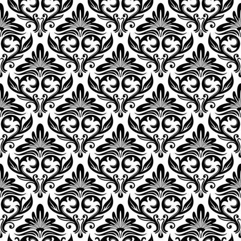 Black Ornament Pattern Wall Mural