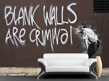 Load image into Gallery viewer, Blank Walls Are Criminal Wall Mural