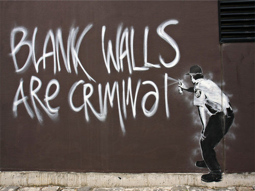 Blank Walls Are Criminal Wall Mural