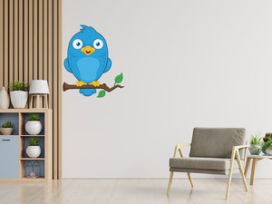 Blue Bird Branch Wall Decal