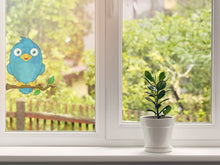 Load image into Gallery viewer, Blue Bird Branch Wall Decal