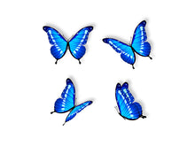 Load image into Gallery viewer, Blue Butterflies Wall Decal