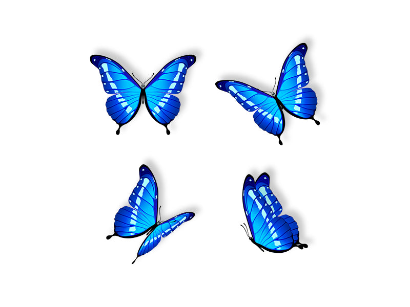 Blue Butterflies Wall Decal