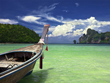 Load image into Gallery viewer, Boat in Tropical Sea Wall Mural