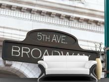 Load image into Gallery viewer, Broadway Street Sign Wall Mural