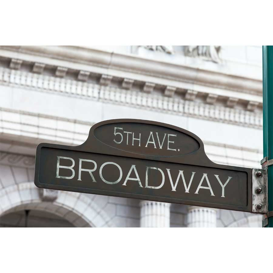 Broadway Street Sign Wall Mural