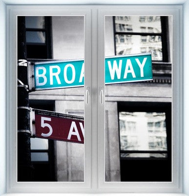 Broadway Sign Instant Window