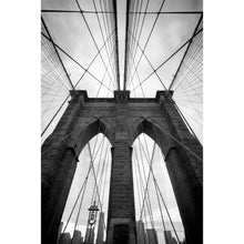 Load image into Gallery viewer, Brooklyn Bridge in black and white Wall Mural