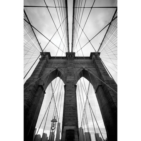 Brooklyn Bridge in black and white Wall Mural