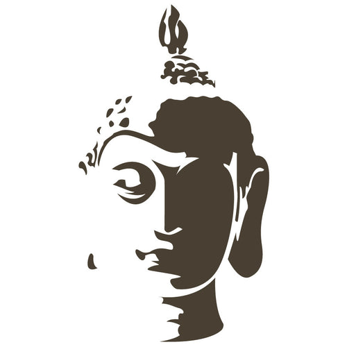 Buddha Head Wall Decal