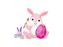 Load image into Gallery viewer, Bunny Painting Easter Egg Wall Decal