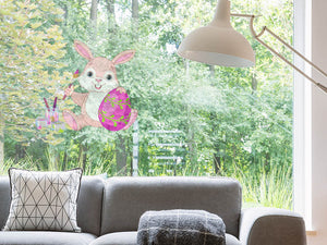 Bunny Painting Easter Egg Wall Decal