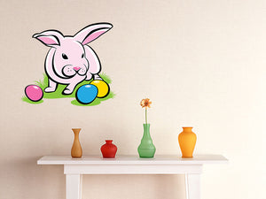 Bunny with Easter Eggs Wall Decal