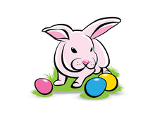 Load image into Gallery viewer, Bunny with Easter Eggs Wall Decal