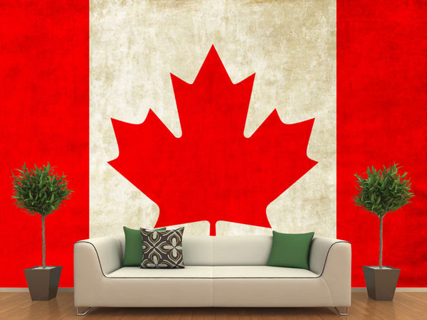 Canadian Flag Wall Mural