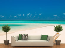 Load image into Gallery viewer, Canvas Chair on a Tropical Beach Wall Mural