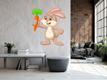 Load image into Gallery viewer, Cartoon Happy Rabbit Holding Wall Decal