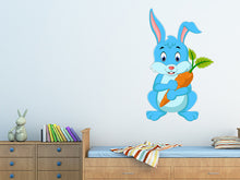Load image into Gallery viewer, Cartoon Happy Rabbit Wall Decal