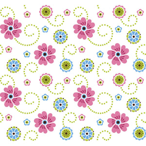 Colourful Flower Pattern Wall Mural