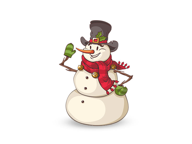 Christmas Snowman Wall Decal