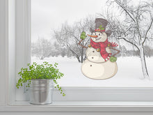 Load image into Gallery viewer, Christmas Snowman Wall Decal