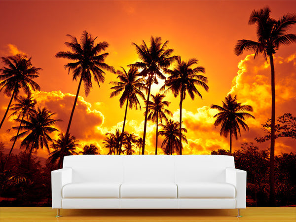 Coconut Palms Wall Mural