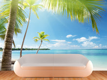 Load image into Gallery viewer, Coconut Palms in Sunlight Wall Mural