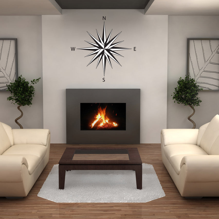 Star Compass Wall Decal