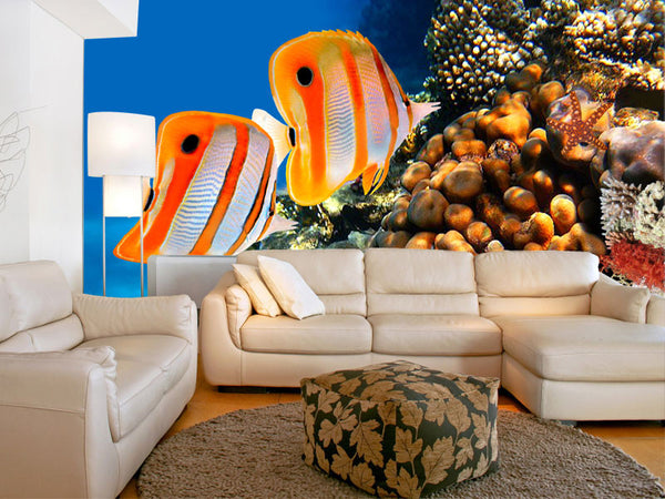 Copperband Butterfly Fish Wall Mural
