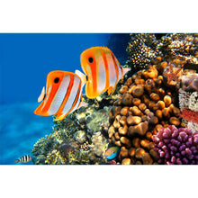 Load image into Gallery viewer, Copperband Butterfly Fish Wall Mural