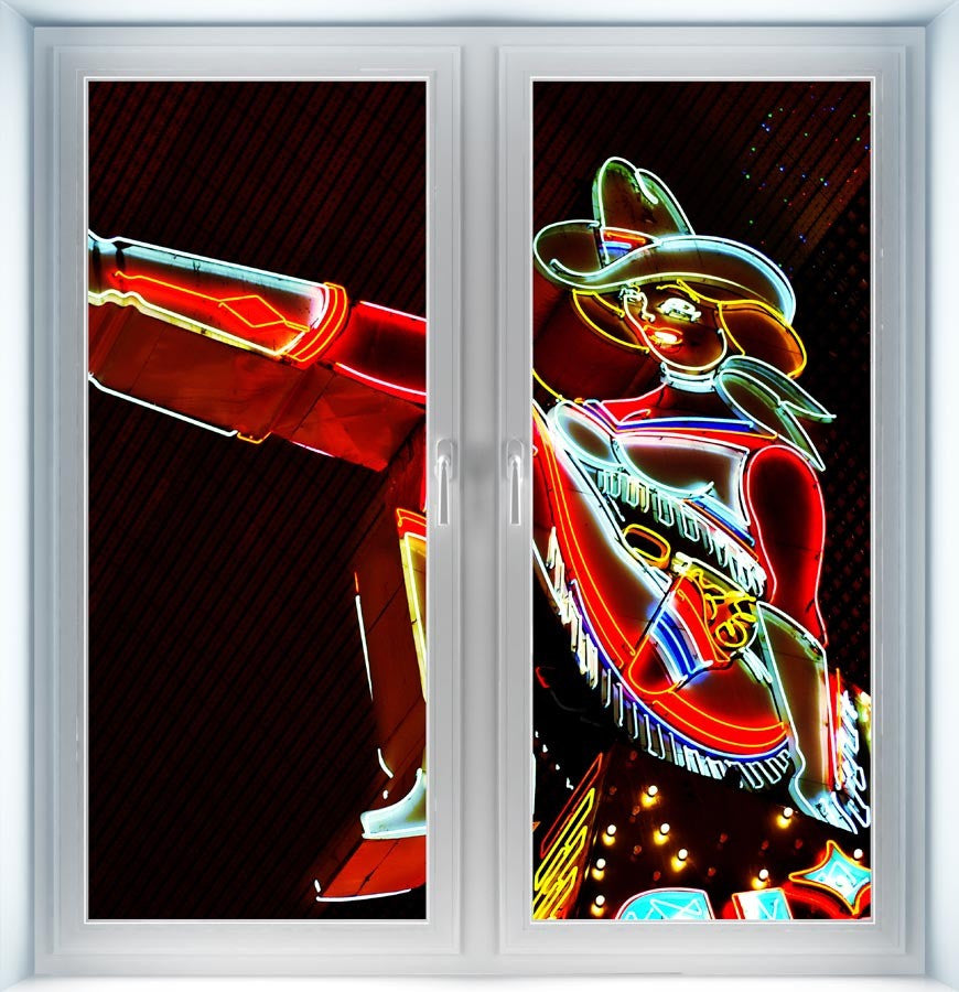 Cowgirl Neon Sign Instant Window