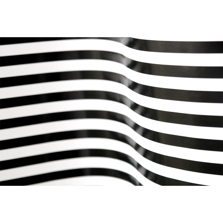 Curving Black and White Stripes Wall Mural