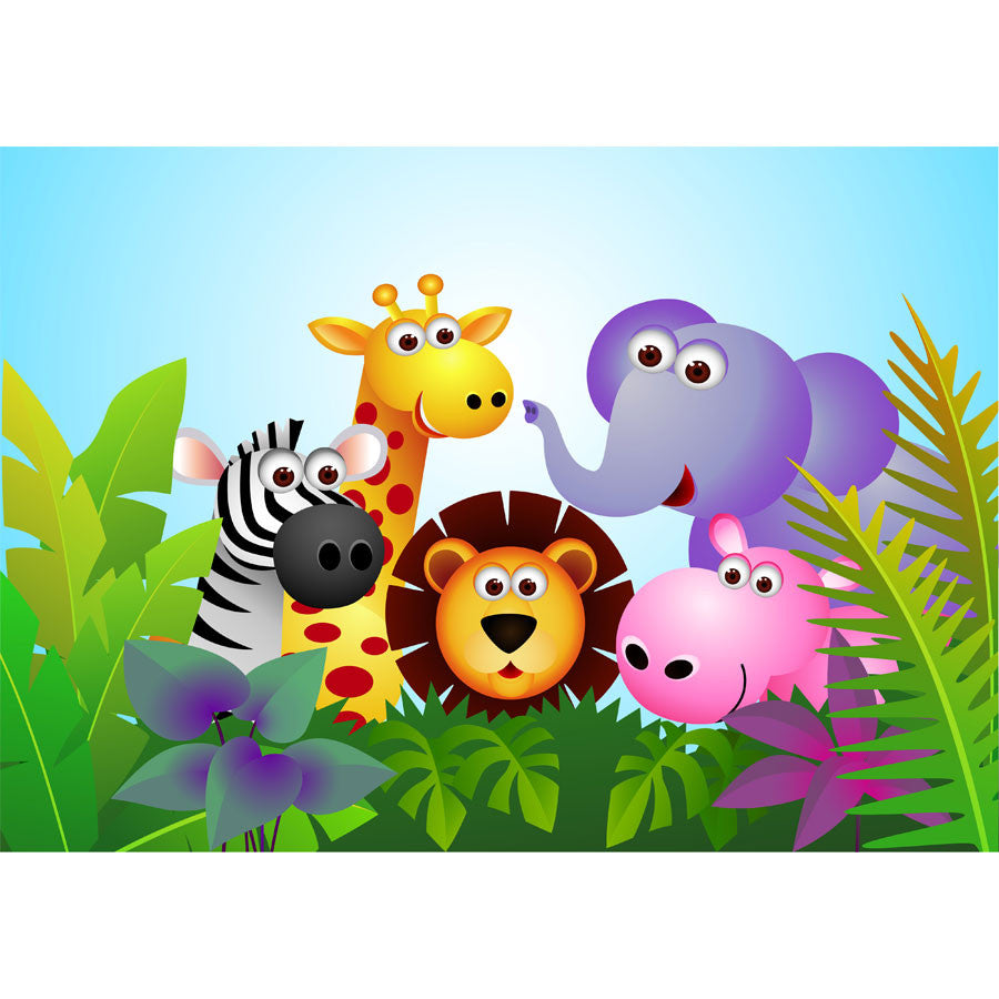 Cute Animal Wall Mural