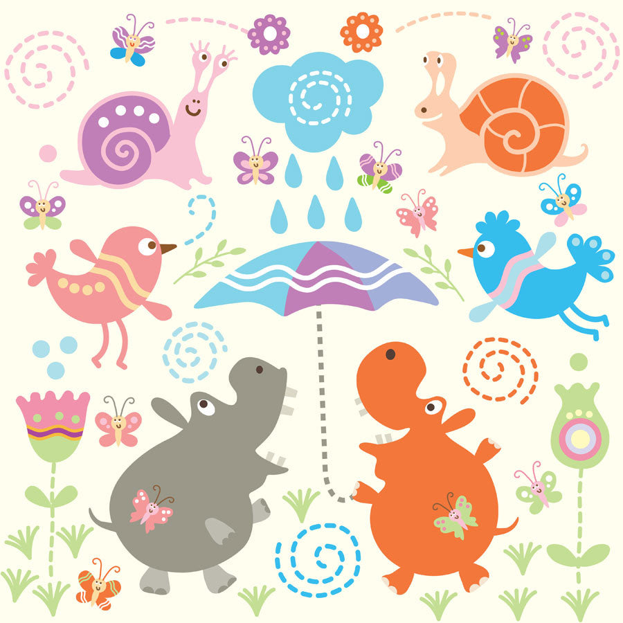 Cute Animals Wall Mural