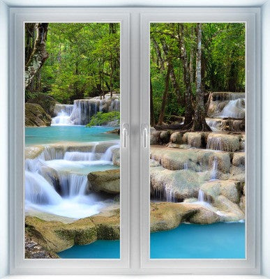 Deep Forest Waterfall Instant Window