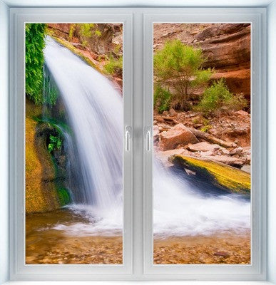 Desert Waterfall Closed Instant Window
