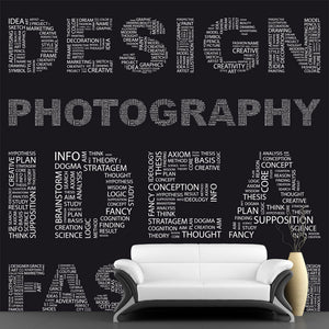 Design Word Collage Wall Mural