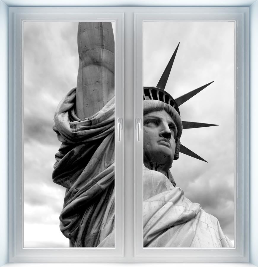 Detail of the Statue of Liberty Instant Window