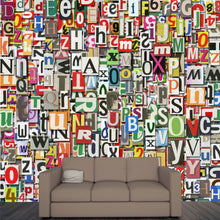 Load image into Gallery viewer, Digital Letter Collage Wall Mural