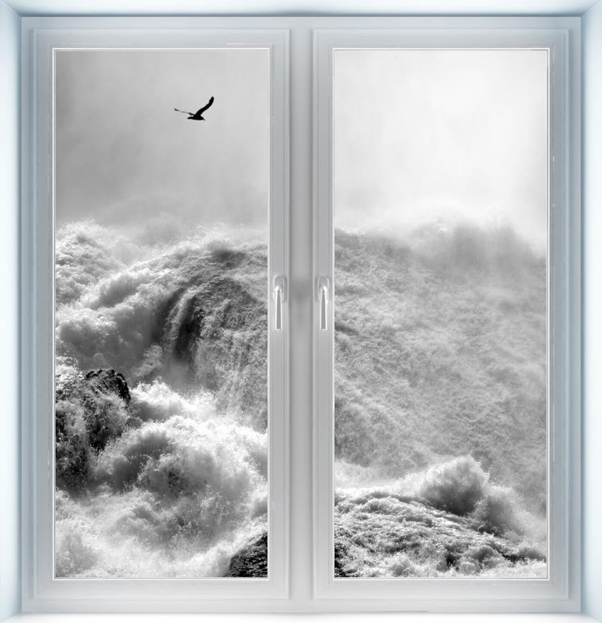 Dramatic Niagara Falls Instant Window