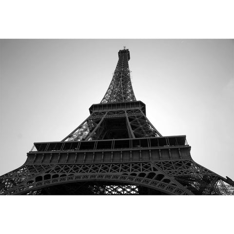 Black and White Eiffel Tower Wall Mural