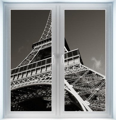 Eiffel Tower From Below Instant Window