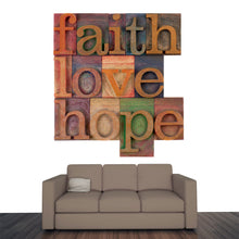 Load image into Gallery viewer, Faith, Love and Hope Wall Mural