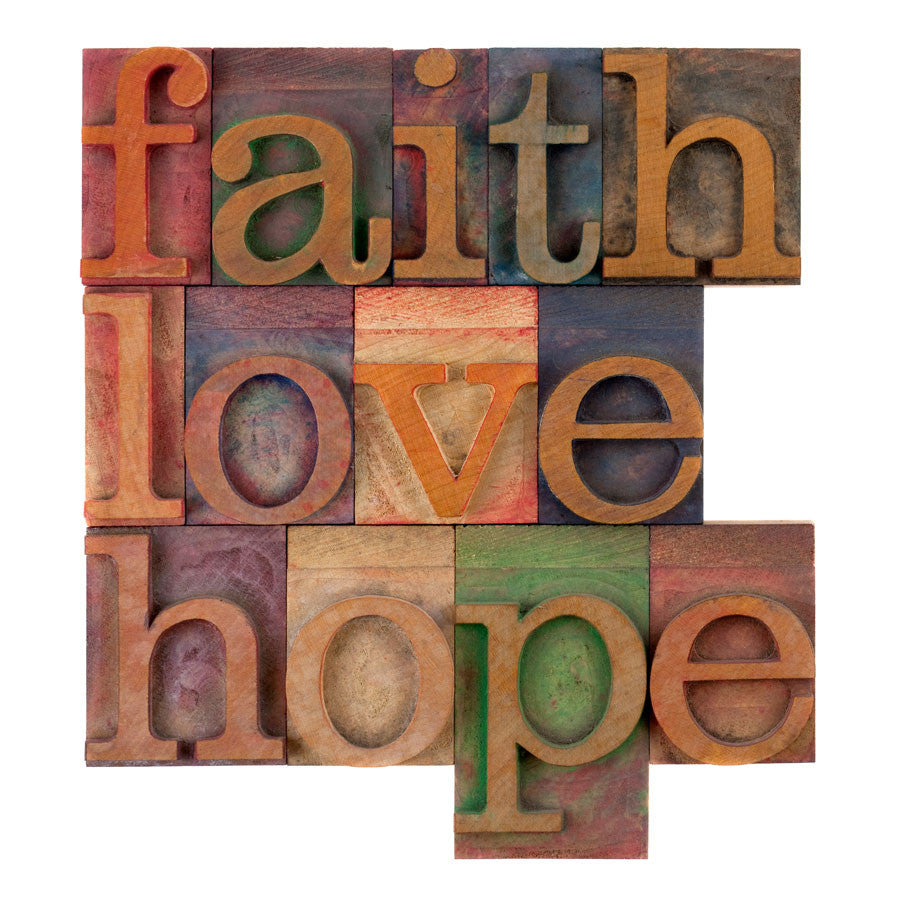 Faith, Love and Hope Wall Mural