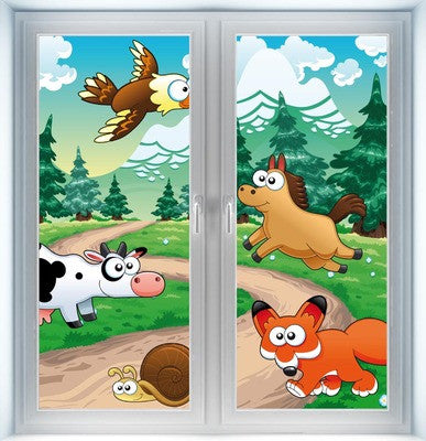 Family of Animals Instant Window