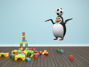 Futbol Soccer Penguin Wall Decal