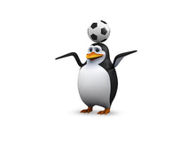 Load image into Gallery viewer, Futbol Soccer Penguin Wall Decal