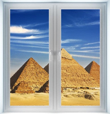Giza Pyramids Instant Window